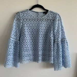 J.Crew Daisy Lace bell sleeve top
